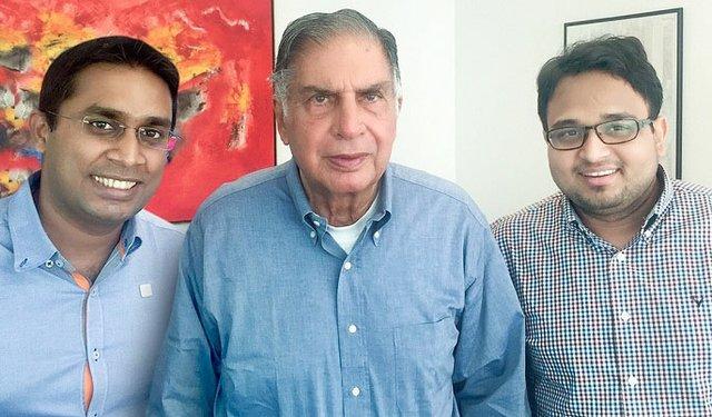 16i2_GTR_India_ltoRght Kaushal Dugar, Ratan Tata, and Rohan Jahagirdar.jpg