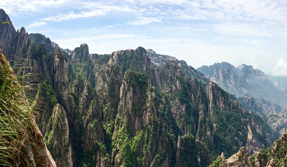Huang Shan Gebirge in der Anhui Provinz
