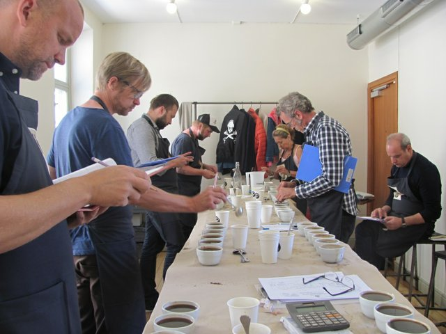 International Jury Cupping finalists at Flavor of India Fine Cup Award competition.