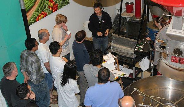 Roaster training at Coffee Lab International