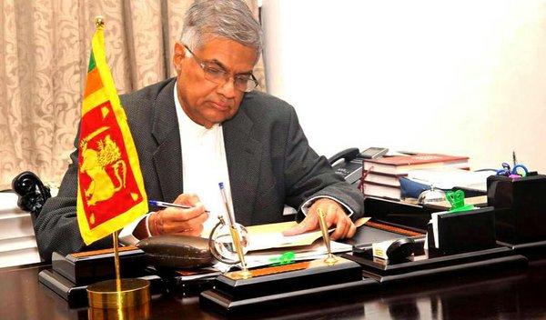 Sri Lanka PM Ranil Wicamasinghe