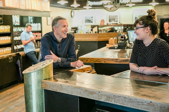 Howard Schultz Steps Down