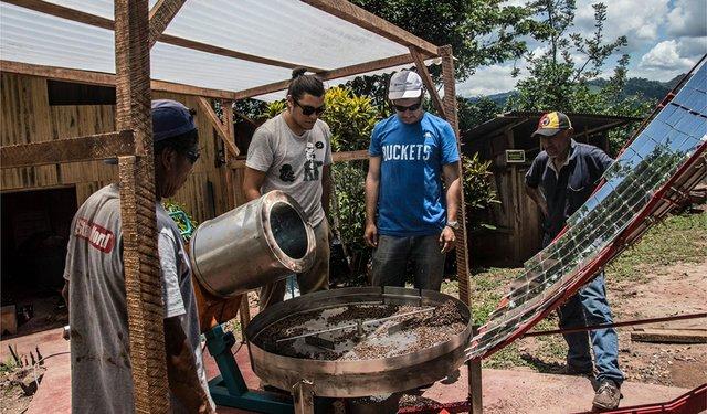 Solar roaster helps farmers