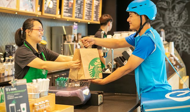Starbucks, Alibaba Partner